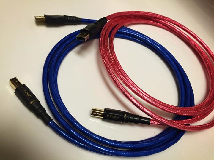A beautiful display of our Heimdall 2 and Blue Heaven USB cables!