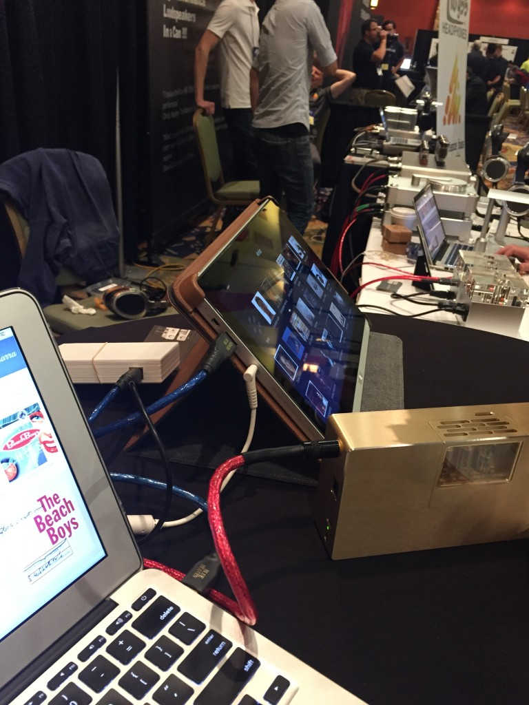 Woo Audio had a great setup in the Can Jam section of the show.  Here's their new WA8  with Heimdall 2 cables