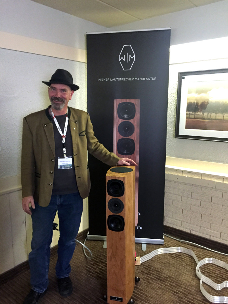 Reinhard of Goerner Audio was showing off his new line of loudspeakers from Wiener Lautsprecher Manufaktur