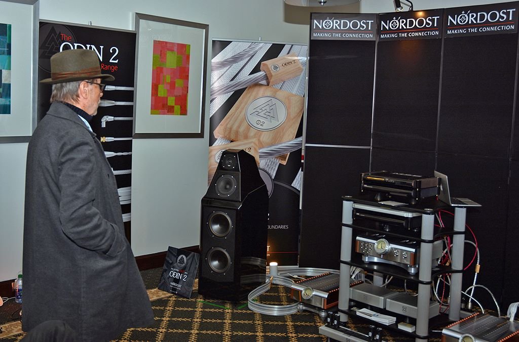 Inner Ear Magazine's Ernie Fisher enjoying the Nordost room at TAVES