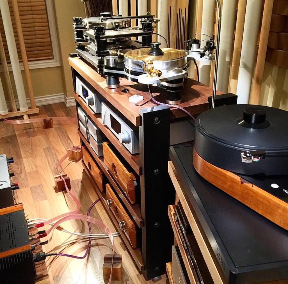Audio By Mark Jones has a beautiful showroom seen here wired with Norse 2 and Valhalla 2 cables