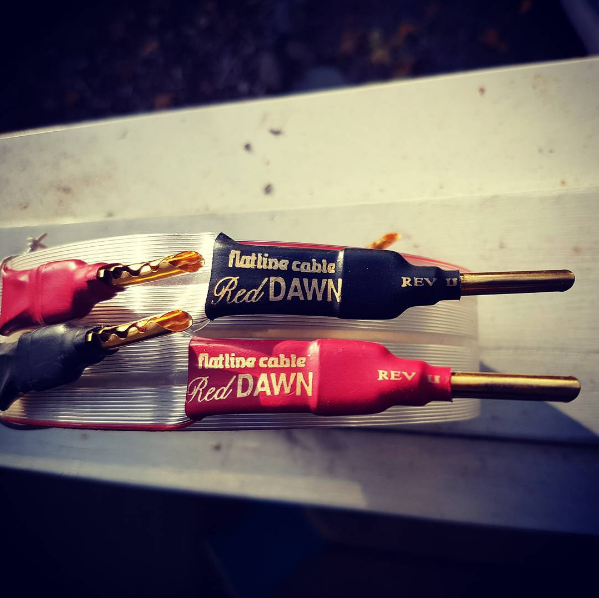 @balalaikka is keepin it old-school with this instagram of his used Red Dawn Speaker Cables!