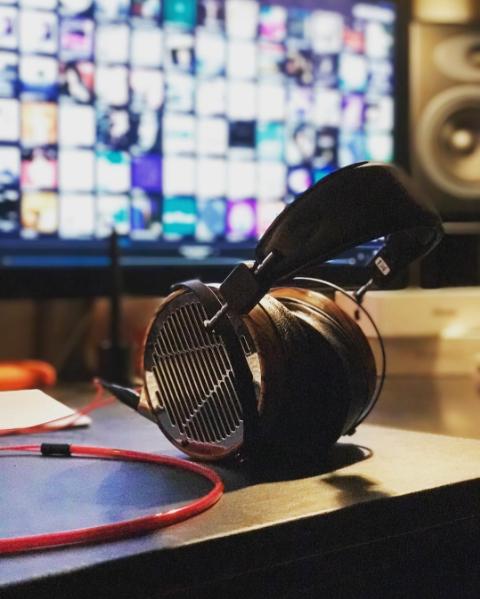@stevechavez instagramed this amazing shot of his Audeze LCD-3 with our Heimdall 2 Headphone Cable.  #happyplace :)