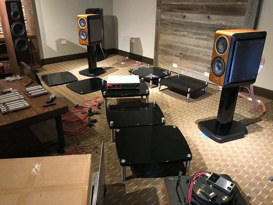 Here's a setup shot of F1 Audio readying their system with Heimdall 2