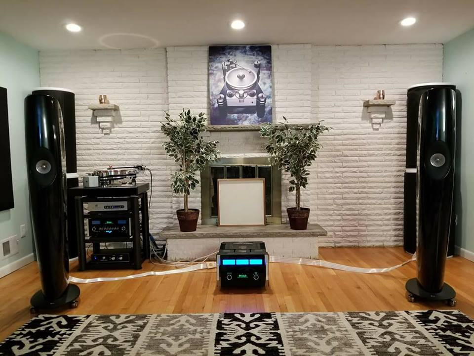 "VPI held an amazing event using ""Nordost Cables, KEF Blades, IsoAcoustics, Ortofon A-95, McIntosh Laboratory Inc. electronics, and Stillpoints.us room treatment. Source is the VPI Avenger Plus and VPI Voyager Phono."""