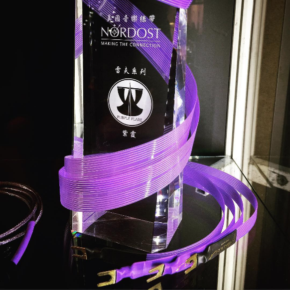 @kurt_cobain.a shared this striking shot of our Purple Flare Loudspeaker Cables, on display at the Hong Kong High-End Audio Visual Show.