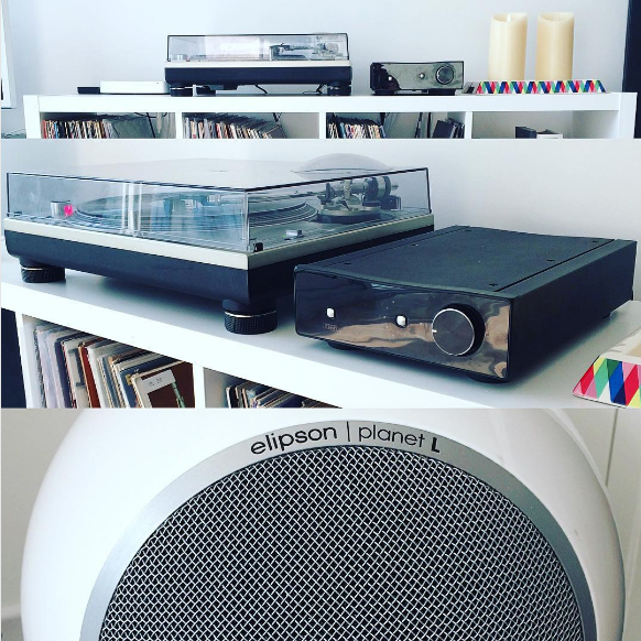 """At my boy Jason's... Lovely little set up does he have! #elipson #sl1200mk5 #regabrior #nordost"" - @thebrownbandit"