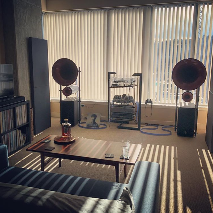 @seantmanley is all set for a nice listening session with Nordost Blue Heaven!