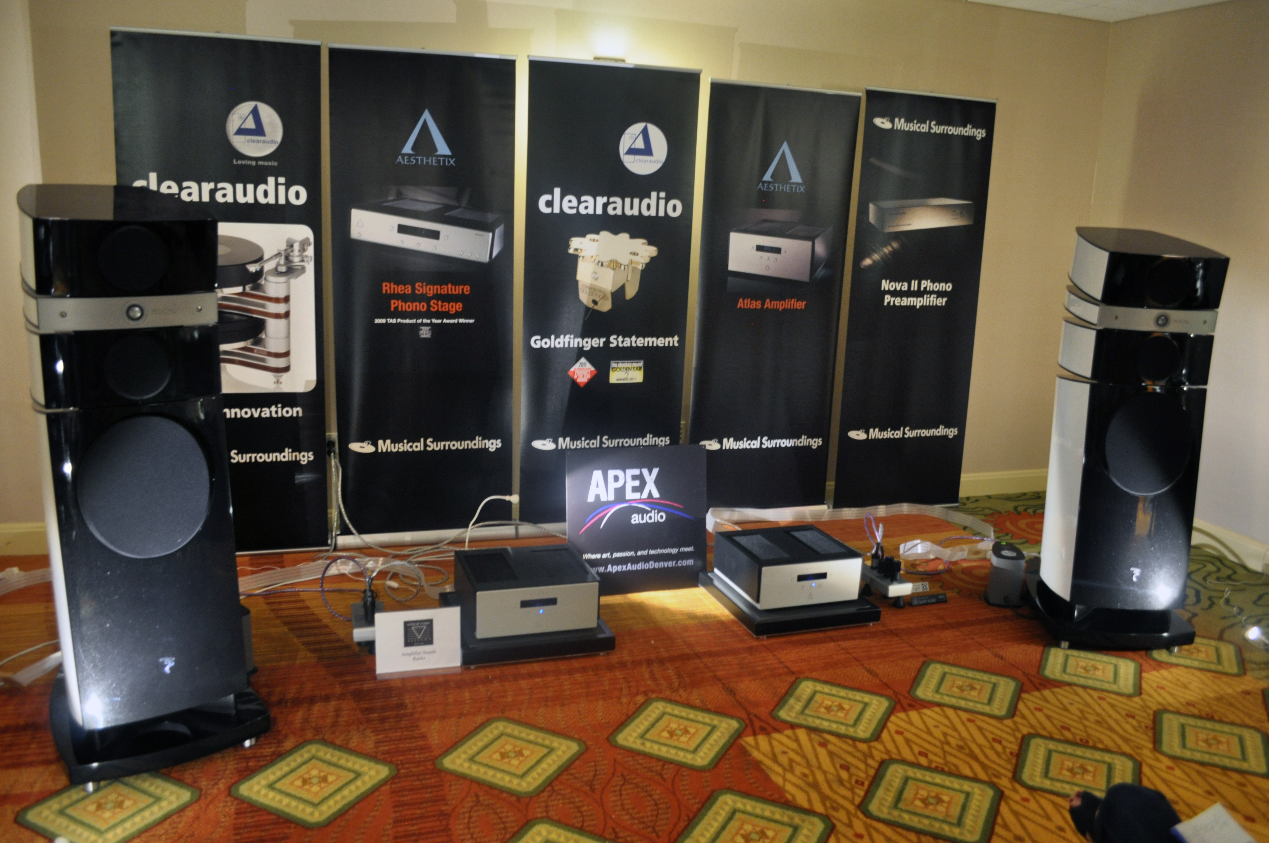 Apex Audio's room was totally decked out with Nordost and we don't need to tell you, it sounded amazing in there!