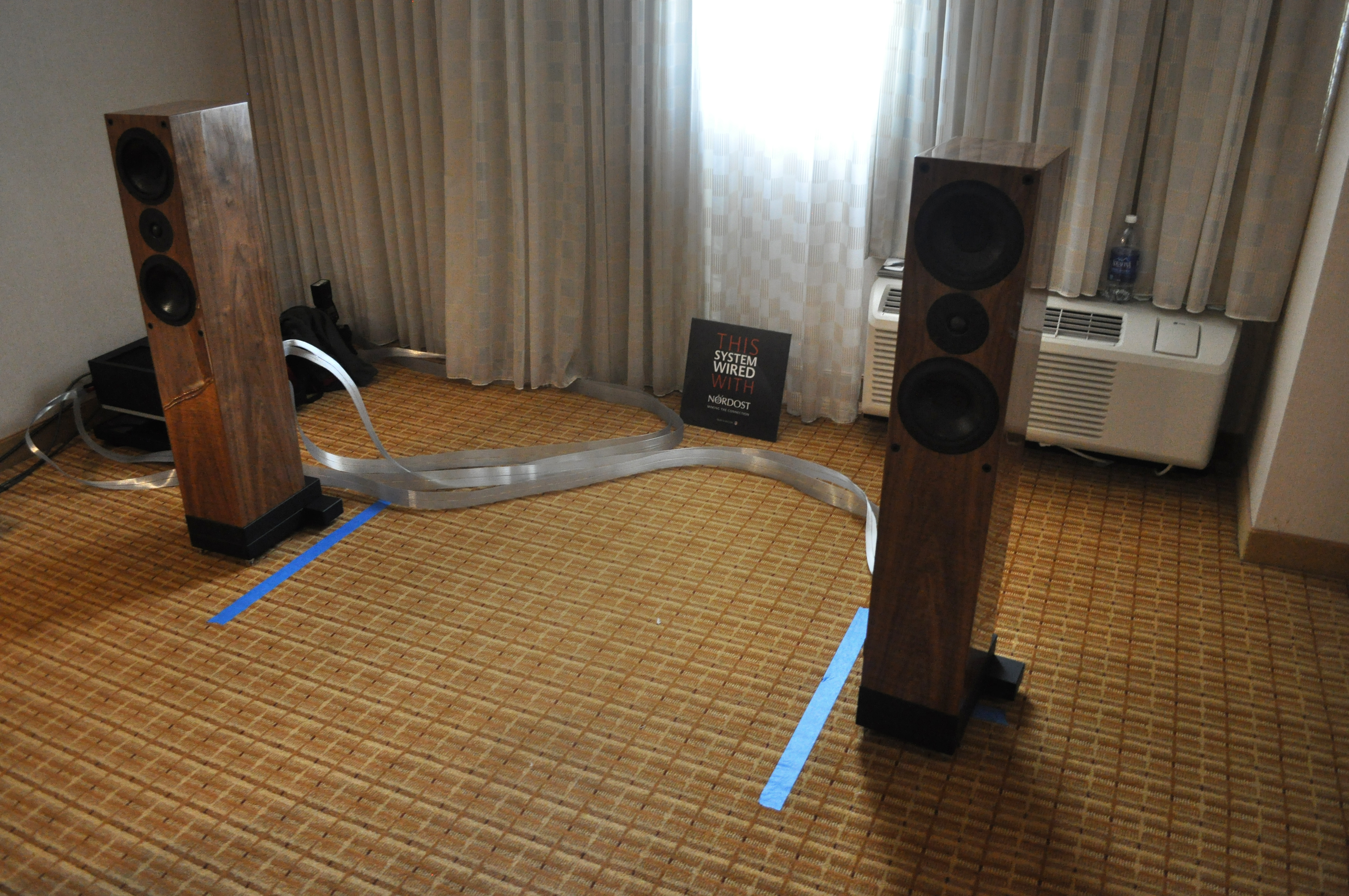 The Audio Beat's demo room was outfitted with Tyr 2, QRT, and Sort Systems!