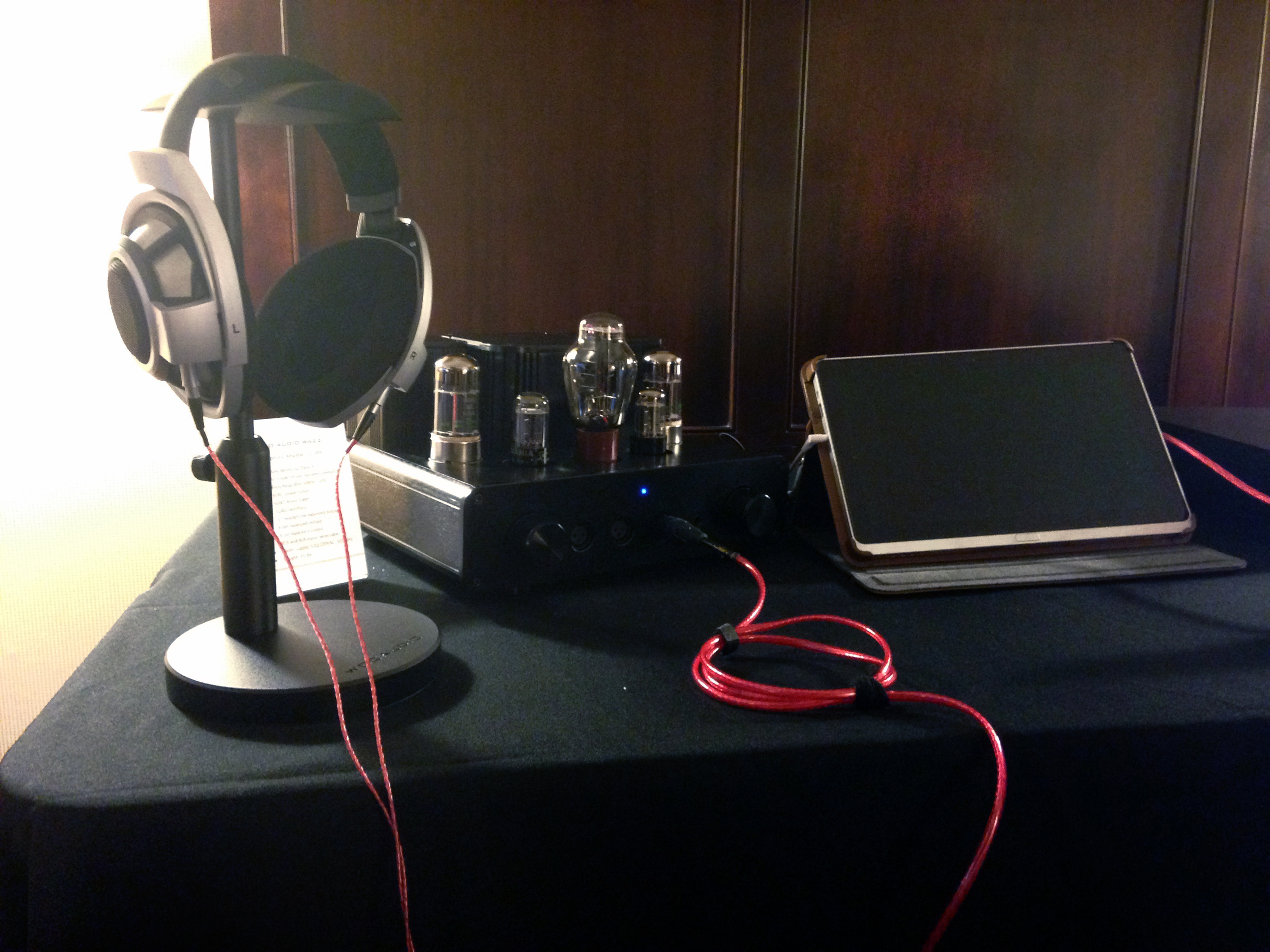 Woo Audio's rig used our new Heimdall 2 Headphone Cable and USB!