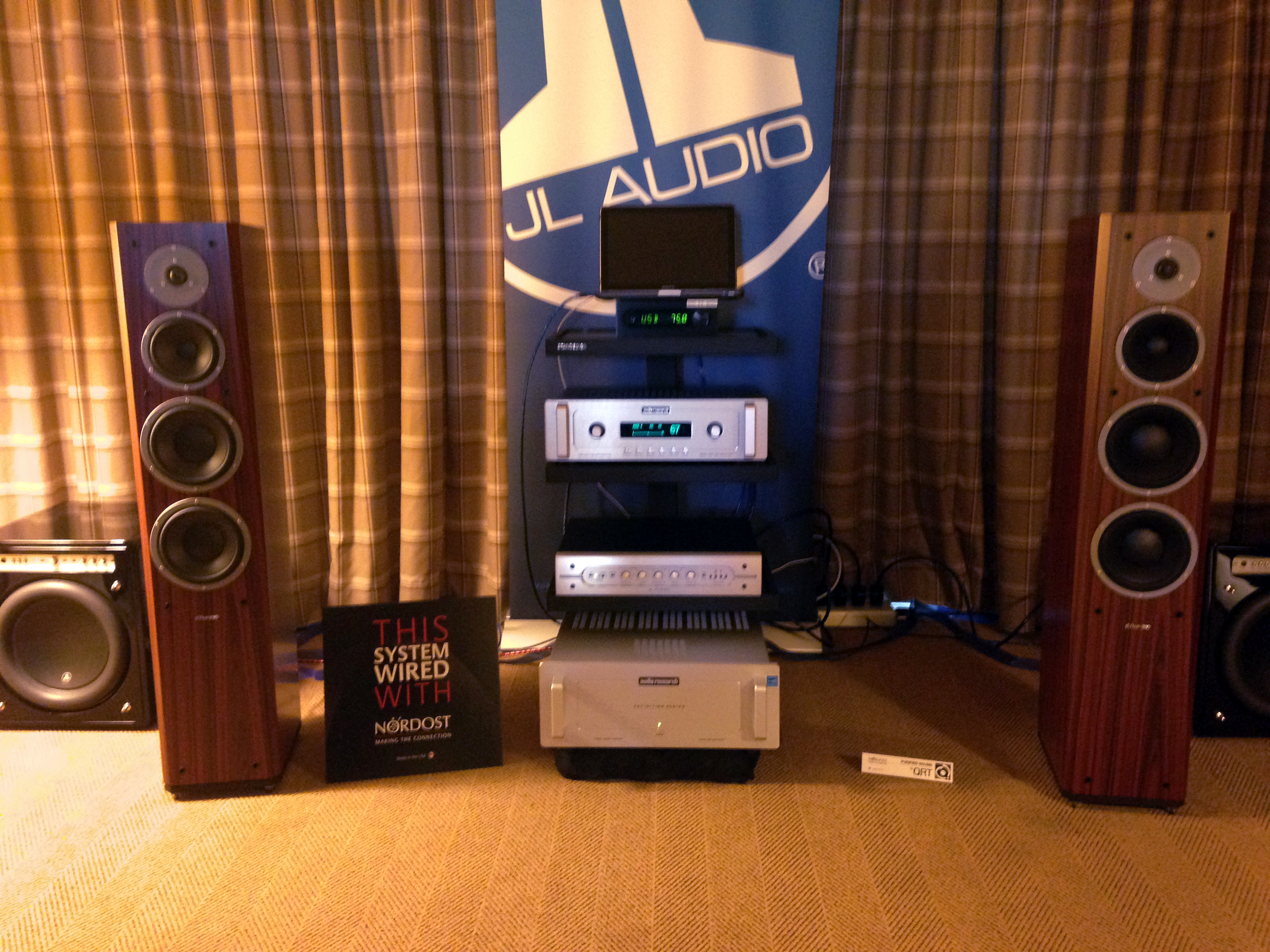 The JL Audio and Dynaudio room used our Blue heaven cables, including speaker and USB!