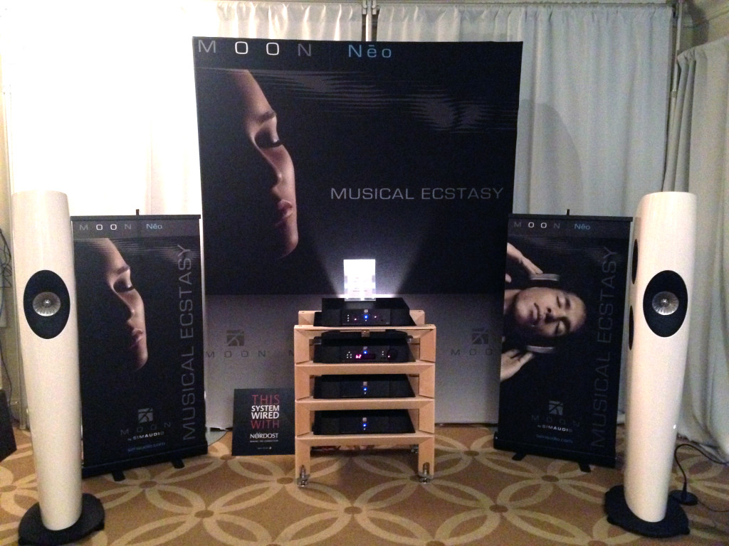 Simaudio's room with their Moon equipment and our Heimdall 2 cables