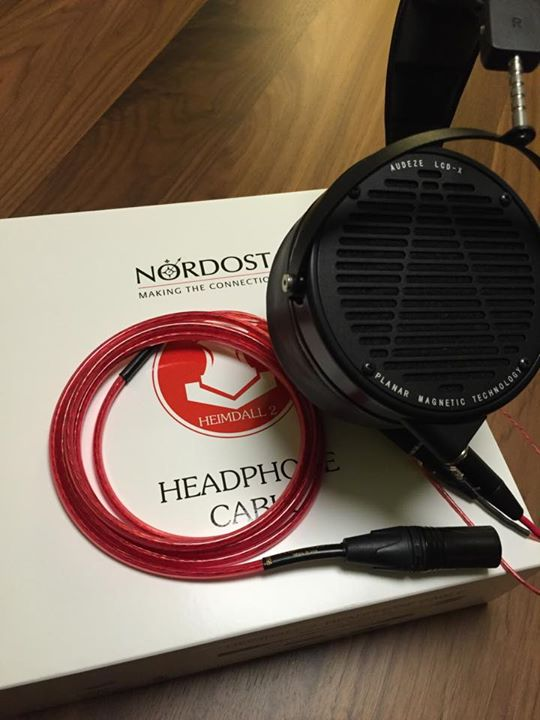 """Oh yeah! It's time to play upgrade a go-go. Nordost Cables #Heimdall2 #HeadphoneCable and Audeze LCDx #Headphones."" - HiFiGuy528"