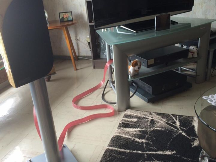 "Oliver Stoessel took these shots of his Red Dawn and Blue Heaven Speaker Cables.  - ""Amazing !!!!"""