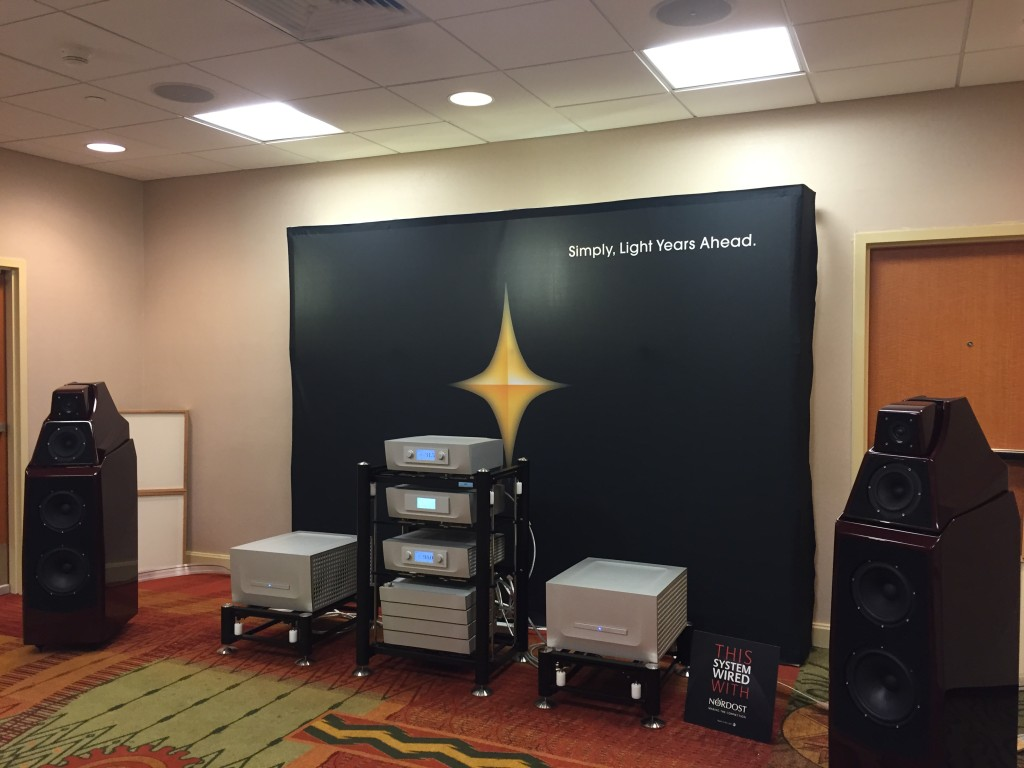 Nordost cables could be heard all throughout the show.  Here's Constellation Audio's room hooked up to Odin 2!