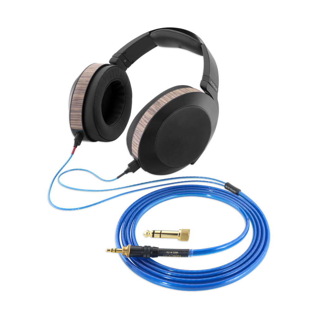 lg-Blue Heaven Headphone Cable_With Headphones