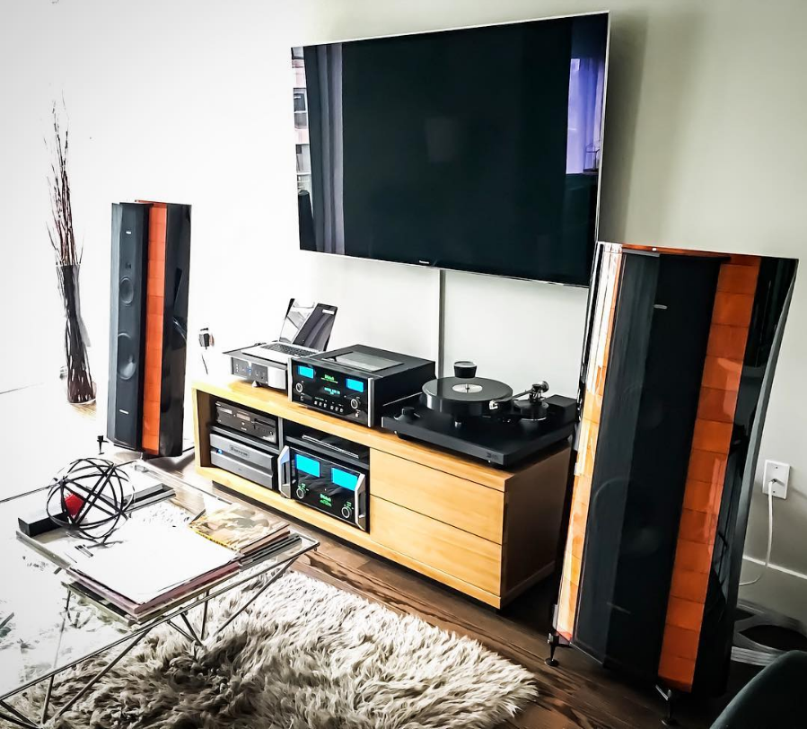 """New system finally all set up and dialed in. #hifi #audiophile #sonusfaber #elipsa #mcintosh #siltech #nordost #obsession #benzlps #vinyl #analogue #highendaudio #audioporn #brinkmann #stereo #turntable #tubes"" - @mtbguy on Instagram"