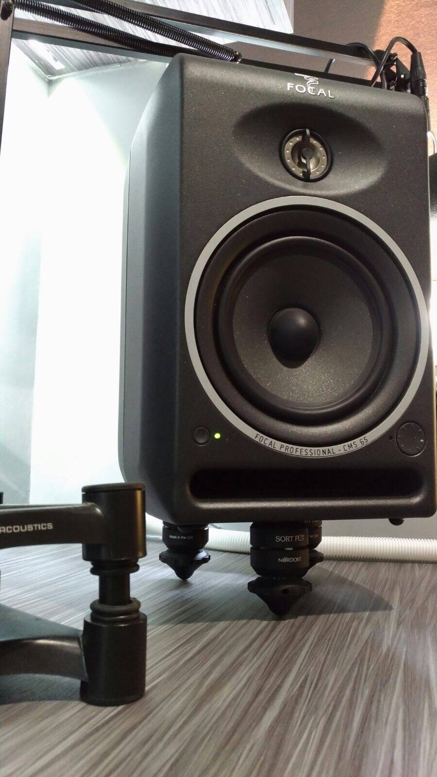 AMEK shared this picture of   a Focal Professional supported by our Sort Füt!