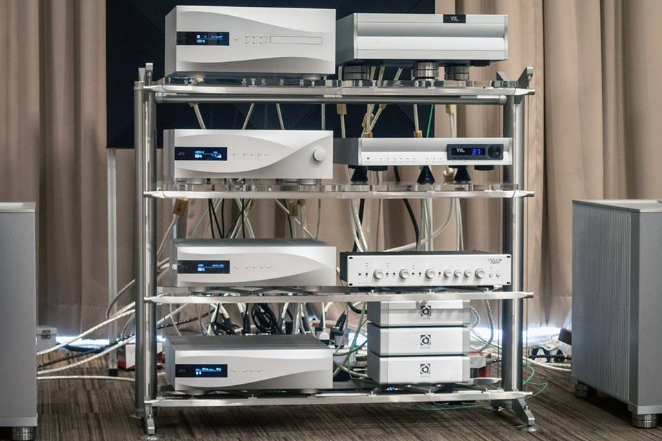 What Hi-Fi? Thailand shared this amazing photo of their rack loaded up with dCS and supported by Nordost cables, power products, and resonance control.
