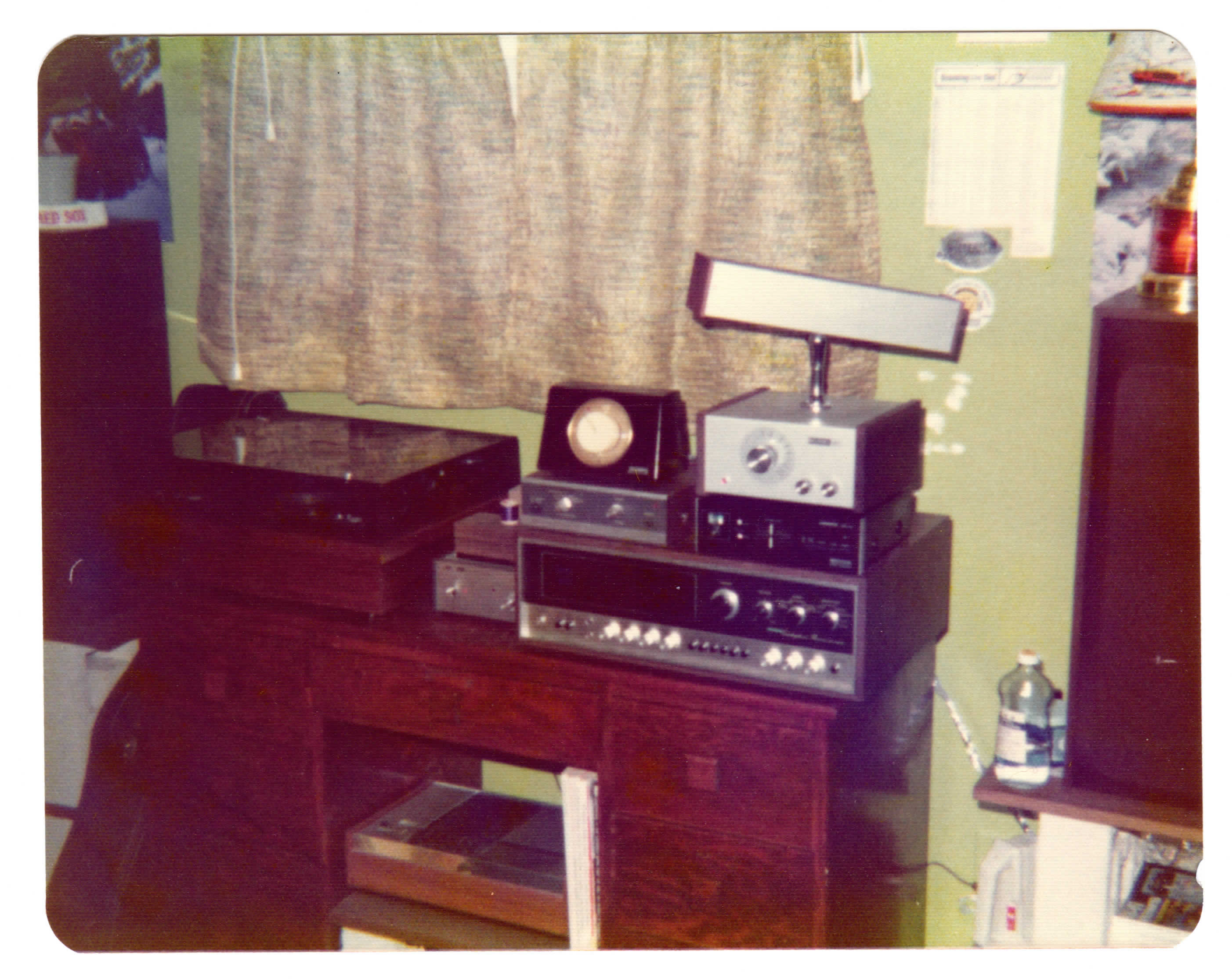 My bedroom system 1975 -Pioneer QX-8000 and Alliance rotator box